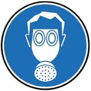 Si debe estar expuesto durante mucho tiempo en la zona afectada, deberá utilizar una máscara integral con filtros de carbono.