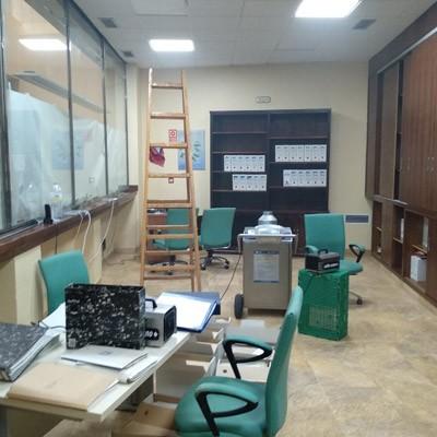 Desinfección de oficinas y entidades públicas