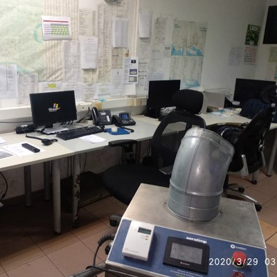 Desinfección de salas de control